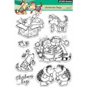 """Christmas Hugs Clear Stamps 5""""x7"""" Penny Black"""
