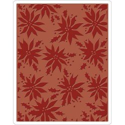 Poinsettias Texture Fades A2 Embossing Folder Sizzix by Tim Holz