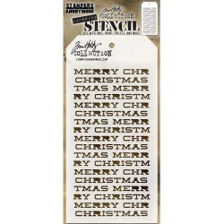 Merry Christmas Tim Holtz Layering Stencil