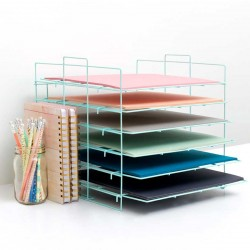 Desktop Storage Paper Rack Crate PAper
