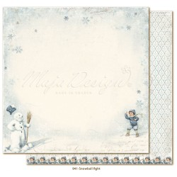 "Carta Snowball Fight 12""x12"" Joyous Winterdays Collection Maja Design"