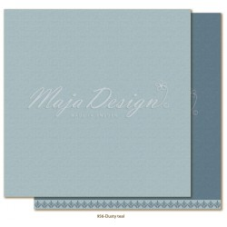 "Dusty Teal Monochromes - Shades of Winterdays 12""x12"" Maja Design"