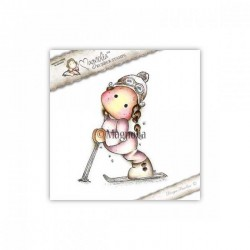 Timbro Downhill Tilda Magnolia Rubber Stamp -AH16