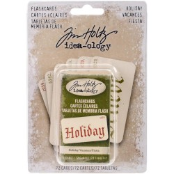 Holiday Old English Fonts Flashcards Idea-ology by Tim Holtz
