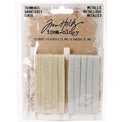 Gold & Silver Metallic Trimmings Idea-ology by Tim Holtz