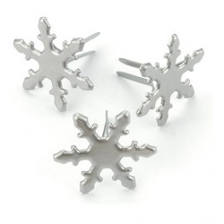 Snowflakes Pewter Brads Metal Paper Fastners 50 Pkg Creative Impressions
