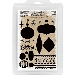Christmas Cling Foam Stamps Idea-ology by Tim Holtz