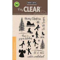Winter Silhouettes Clear Stamp Set Hero Arts