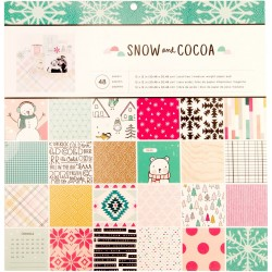 "Snow & Cocoa Paper Pad 12""x12"" Crate Paper"