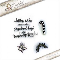 Timbro Holiday Wishes Kit Magnolia Rubber Stamp - CP-17