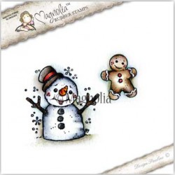 Timbro Snowman Kit Magnolia Rubber Stamp - CP-17