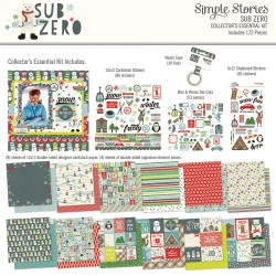 """Sub Zero Collector's Essential Collection Kit 12""""x12"""" Simple Stories"""