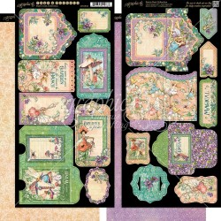 "Fairie Dust Tags & Pockets Cardstock Die Cuts 6""x12"" Sheet Graphic 45"
