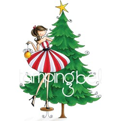 Tina Trims The Tree Uptown Girl Cling Rubber Stamp Stamping Bella