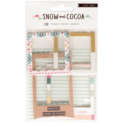 Snow & Cocoa Chipboard Frames Crate Paper