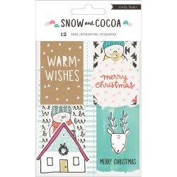 Snow & Cocoa Cardstock Tags Crate Paper