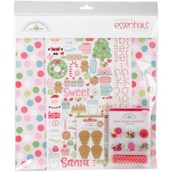 "Milk & Cookies Essential Pages Kit 12""x12"" Doodlebug"