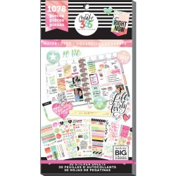 Watercolor Classic Create 365 The Happy Planner Sticker Value Pack