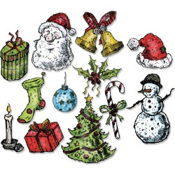 Tattered Christmas Framelits Dies by Tim Holtz Sizzix