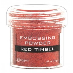 Red Tinsel embossing Powder Ranger