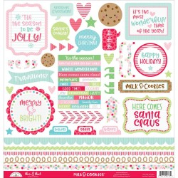 "Milk & Cookies Cardstock Stickers 12""x12"" Doodlebug Design"