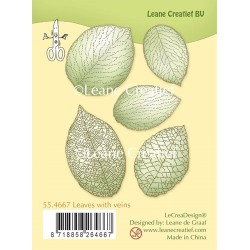 Leaves With Veins Clear Stamps Leane Creatief BV