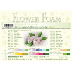 White Flower Foam A4 10 Sheets Leane Creatief