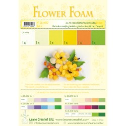 Yellow Flower Foam A4 6 Sheets Leane Creatief