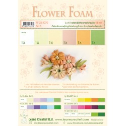 Salmon Flower Foam A4 6 Sheets Leane Creatief