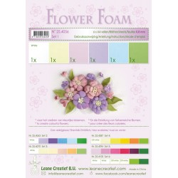 Pastel Flower Foam A4 6 Sheets Leane Creatief