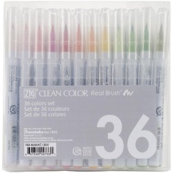 36 Color Set Zig Clean Color Real Brush Markers Kuretake