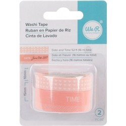 Day & Time Coral Washi Tape We R Memory Keepers