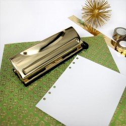 Gold 6 Hole Punch Moment Maker Planner System DCWV