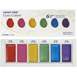 Gem Colors Tambi 6 Color Set Kuretake