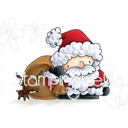 Santa & His Reindeer The Littles Christmas Collection Rubber Stamp Stamping Bella