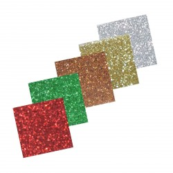 Assortiment 4 Self-Adhesive Glitter Paper