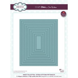 Double Stitched Noble Rectangles Craft Dies By Sue Wilson Creative Expressions