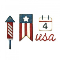Americana Sidekick Side-Order Set By Tim Holtz Sizzix