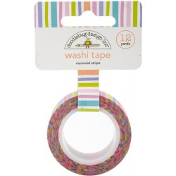 Mermaid Stripe Washi Tape 15 mm Doodlebug