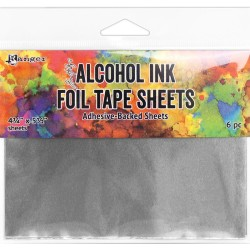 "Alcohol Ink Foil Tape Sheets 4 1/4""x 5 1/2"" Tim Holtz"