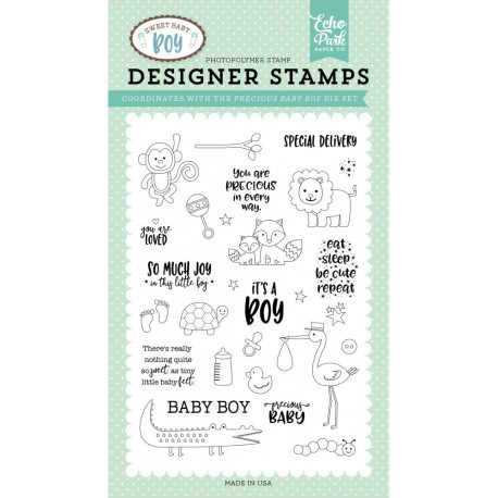 Sweet Baby Boy Photopolymer Stamp Echo Park