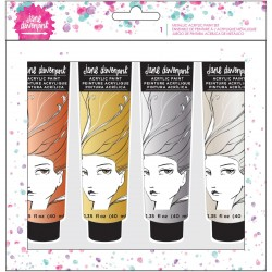 Metallics Portrait Acrylic Paint Kit Mixed Media