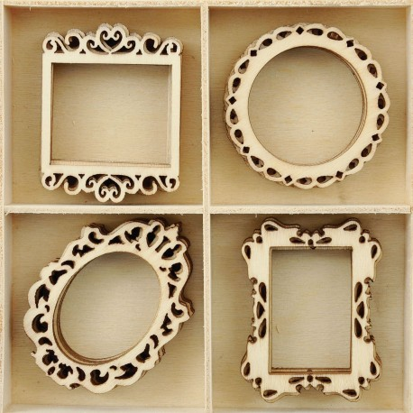Frames Wood Flourish 20 Pkg Kaisercraft