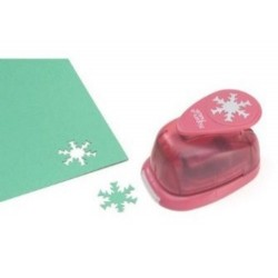 Snowflake Lever Punch Medium Make It Easy Vaessen Creative