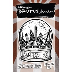 "San Francisco City Sidewalks Clear Stamps 3""x4"" Brutus Monroe"
