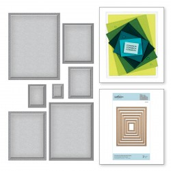 Scored & Pierced Rectangles Nestabilities Dies Spellbinders