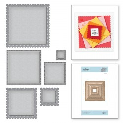Fancy Edged Squares Nestabilities Dies Spellbinders