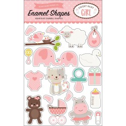 Sweet Baby Girl Adhesive Enamel Shapes Echo Park