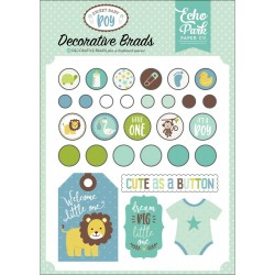 Sweet Baby Boy Decorative Brads & Chipboard Pieces Echo Park