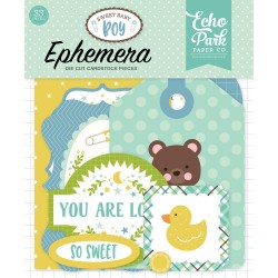 Sweet Baby Boy Ephemera Die Cut Cardstock Pieces Echo Park